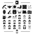 Furniture, rest, professions and other web icon in black style.plumber, tools, attributes icons in set collection.