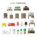 Furniture set for house. Royalty Free Stock Photo