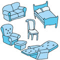 Furniture set an image of a of Royalty Free Stock Photos