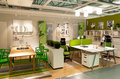 Furniture store ikea interior of home office in vilnius lithuania opened in Royalty Free Stock Photos