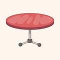 Furniture theme table desk elements vector eps illustration file Stock Photos