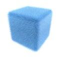 Furry blue cube