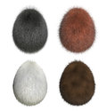 Furry easter eggs gorilla orang utan polar bear brown bear d render Royalty Free Stock Photo