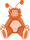 Furry Fuzzy Orange Chubby Sitting Creature Royalty Free Stock Photo
