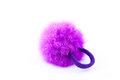 Furry pink scrunchie Royalty Free Stock Photography