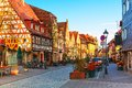 Furth bavaria germany scenic sunset view of ancient buildings and street architecture in the old town of Stock Images