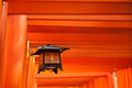 Fushimi inari lantern in the shrine Stock Photos