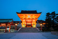 Fushimi inari shrine at dusk kyoto japan Royalty Free Stock Photos