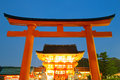 Fushimi inari shrine at dusk kyoto japan Stock Image