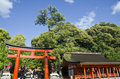 Fushimi inari shrine entrance gateway to in kyoto japan it is dedicated to the shinto god this is famous for its Royalty Free Stock Image