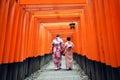 Fushimi inari shrine kyoto japan in Stock Photos