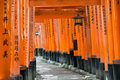 Fushimi inari shrine in kyoto torii gates at japan Stock Photos