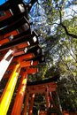 Fushimi Inari Shrine location for Senbon Torii thousands of torii gates Kyoto Osaka Japan Royalty Free Stock Photo