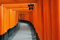 Fushimi inari shrine red tori gate at in kyoto japan Stock Images