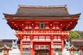 Fushimi inari shrine the romon gate at s entrance on april in kyoto japan this is the head of in japan Stock Photography
