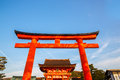 Fushimi inari shrine torii at kyoto japan Stock Image