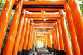 Fushimi inari taisha japan a famous tourist destination in japan Stock Photos