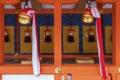 Fushimi inari taisha shrine kyoto japan japanese temple bell in Royalty Free Stock Photo