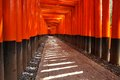 Fushimi inari taisha shrine in kyoto prefecture of japan famous shinto shrine with thousands of vermilion torii gates Royalty Free Stock Photography