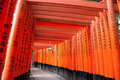 Fushimi inari taisha shrine the thousand torii gates in kyoto japan Stock Photography