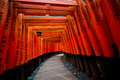 Fushimi inari torii gates famous red gate in kyoto Stock Photos