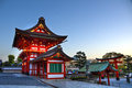 Fushimi inari świątyni wejście kyoto Zdjęcia Stock