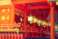Fushimiinari taisha shrinetemple in kyoto japan filtered ima image processed vintage effect Royalty Free Stock Photo