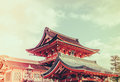 Fushimiinari taisha shrinetemple in kyoto japan filtered image processed vintage effect Stock Photos