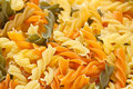 Fusilli pasta background Stock Photo