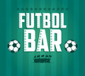 Futbol football soccer bar menu card design template eps available Stock Photo