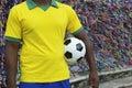 Futbolista brasileño del fútbol salvador wish ribbons Imagenes de archivo