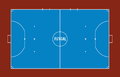 Futsal court or field top view illustration.