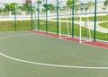 Futsal court. Royalty Free Stock Photo