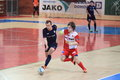 Futsal petr oliva and lukas resetar in czech league match between slavia prague era pack chrudim played in prague on Stock Images