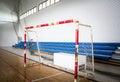 Futsal soccer goal Royalty Free Stock Photo