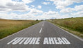 Future ahead written on the road Royalty Free Stock Photo