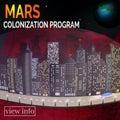 Future city. Martian landskape. Concept for infographic.