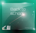 Future glass class board ultra modern with greeting for hi tech schools of the eps Stock Images