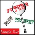 Future in lens - see it in advance Royalty Free Stock Photo