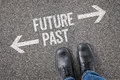 Future or past decision at a crossroad Royalty Free Stock Image