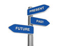 Future Present Past  Choice Royalty Free Stock Photography
