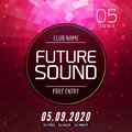 Future sound music party template, dance party flyer, brochure. Party club creative banner or poster for DJ Royalty Free Stock Photo