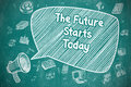The Future Starts Today - Business Concept.