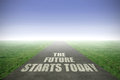 The future starts today Royalty Free Stock Photo