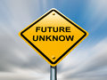 Future unknow ahead road sign. Royalty Free Stock Photo