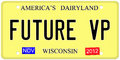 Future VP License Plate Stock Images