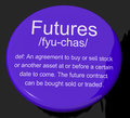 Futures Definition Button Showing Advance Contract To Buy Or Sel Royalty Free Stock Image