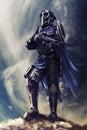 Futuristic armored warrior