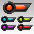 Futuristic Button Set Royalty Free Stock Image