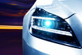 Futuristic Car Headlight Royalty Free Stock Photos